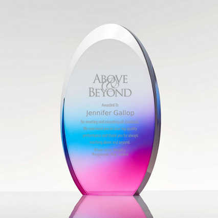 Colorful Gradient Trophy Oval